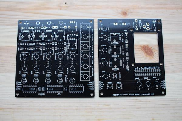 You will need to build two boards: RGBNDR board and Modulator board